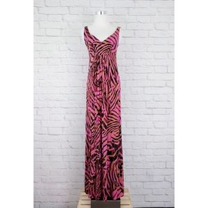 Cabi Tiger Jungle Print Sleeveless Maxi Dress